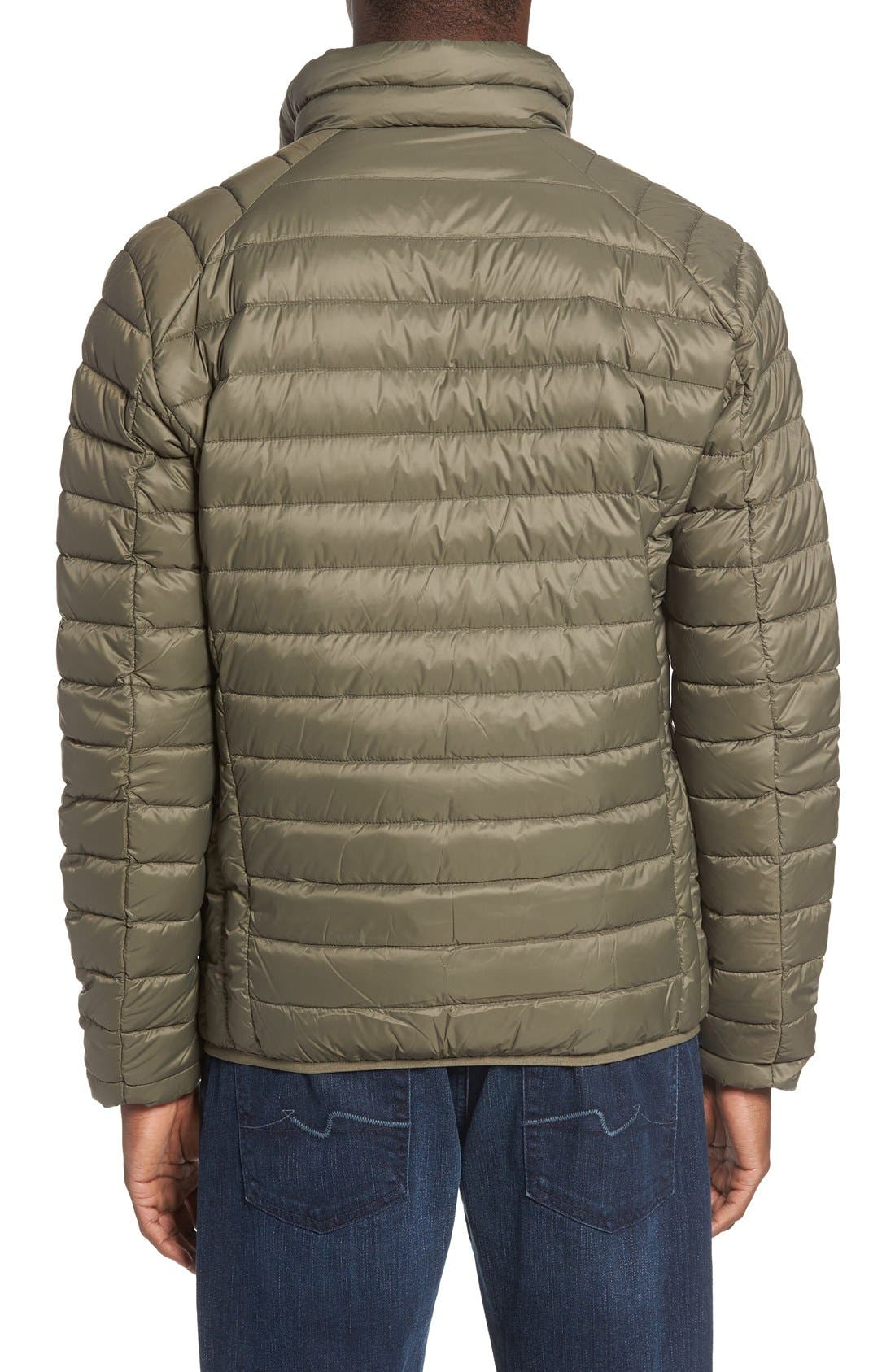 Quilted Down Jacket,                             Alternate thumbnail 2, color,                             Olive
