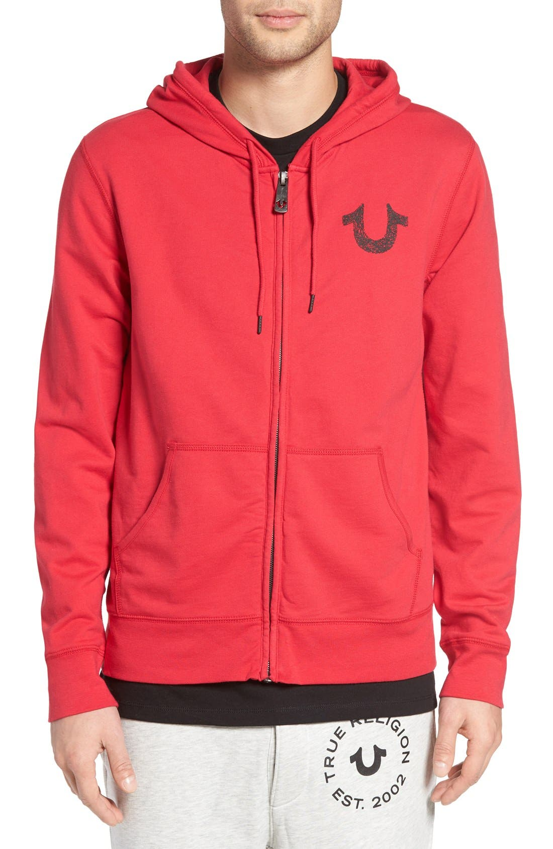 Alternate Image 1 Selected - True Religion Brand Jeans Zip Hoodie