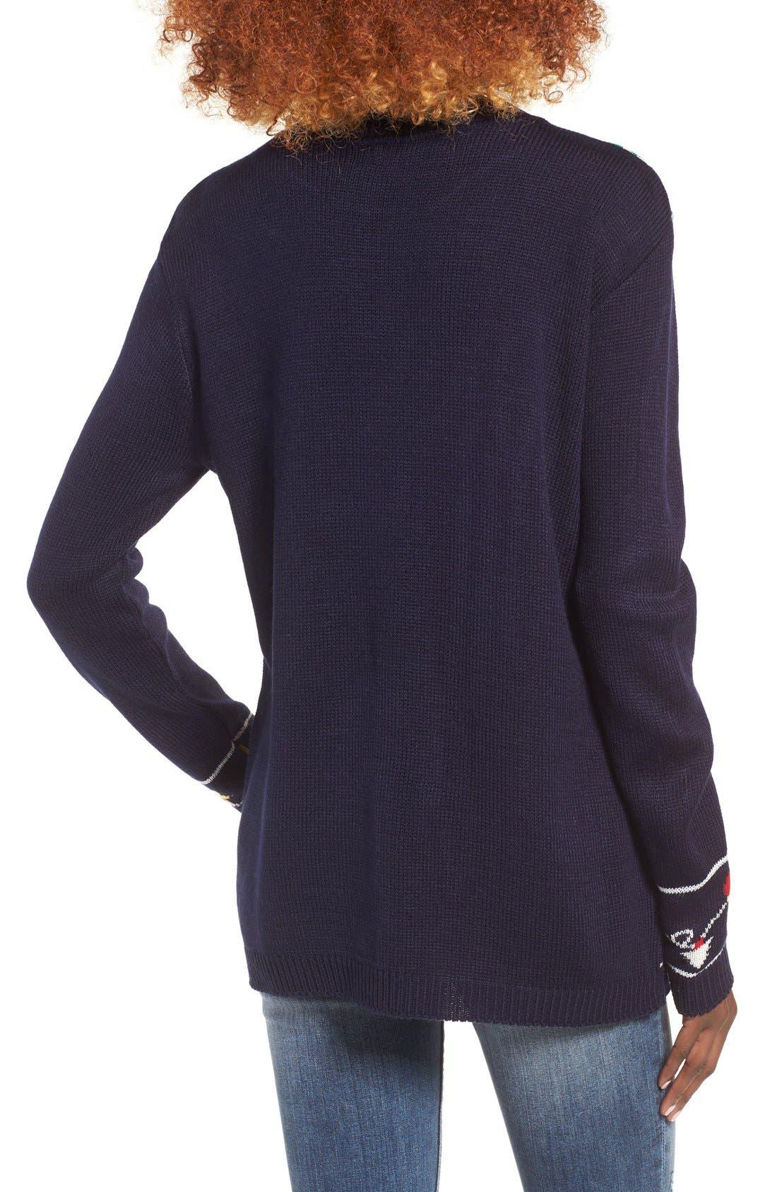 Alternate Image 2  - Cotton Emporium Ornament Christmas Sweater