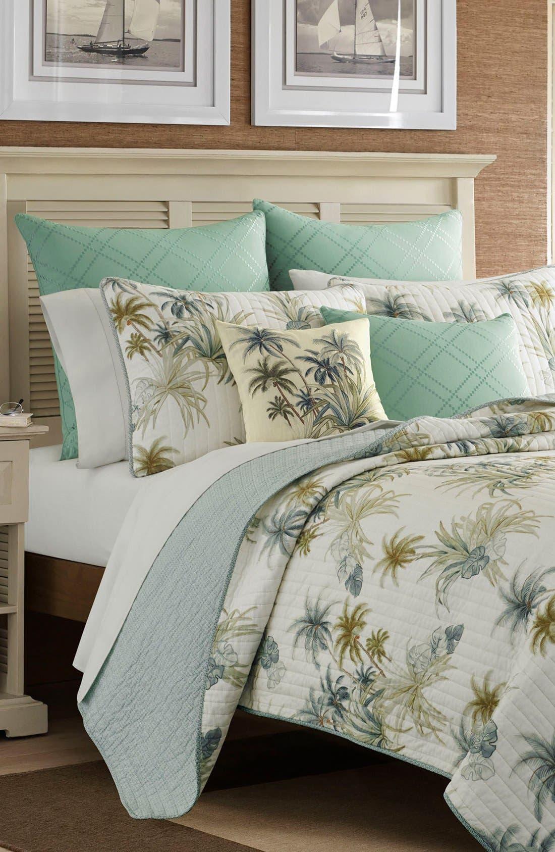 Serenity Palms Sham,                         Main,                         color, Aqua