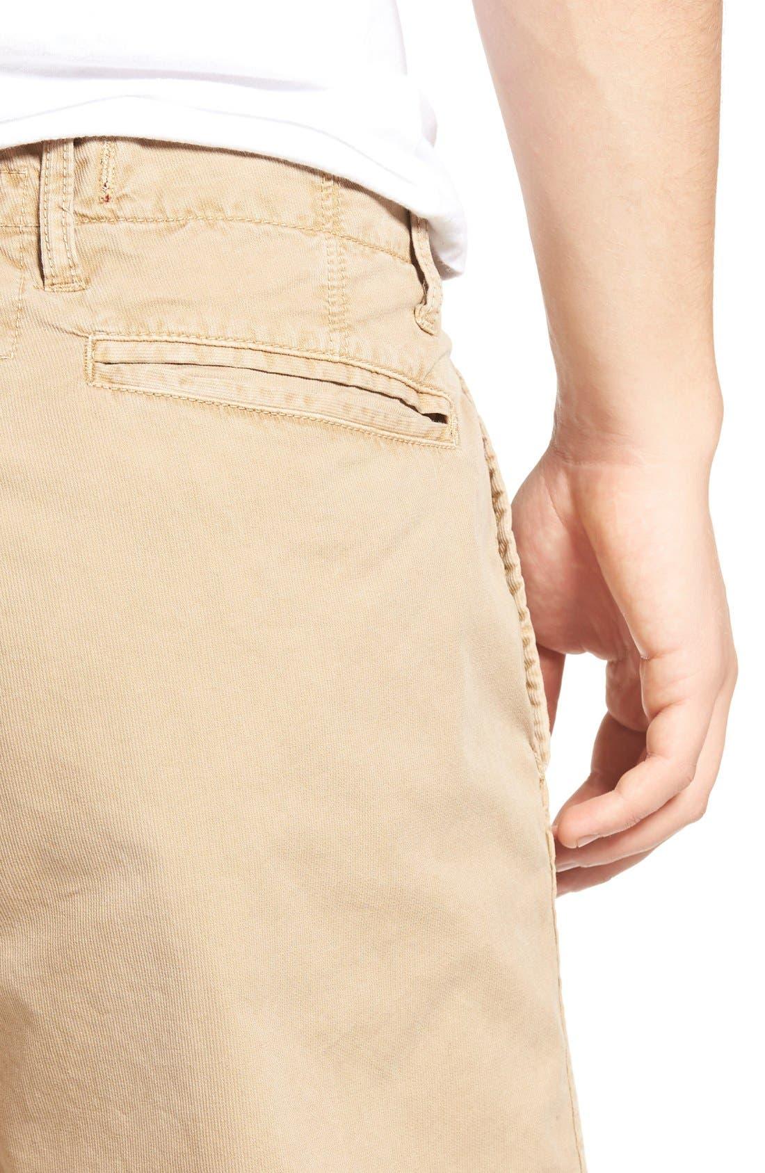 St. Martin Bedford Cord Shorts,                             Alternate thumbnail 4, color,                             Khaki