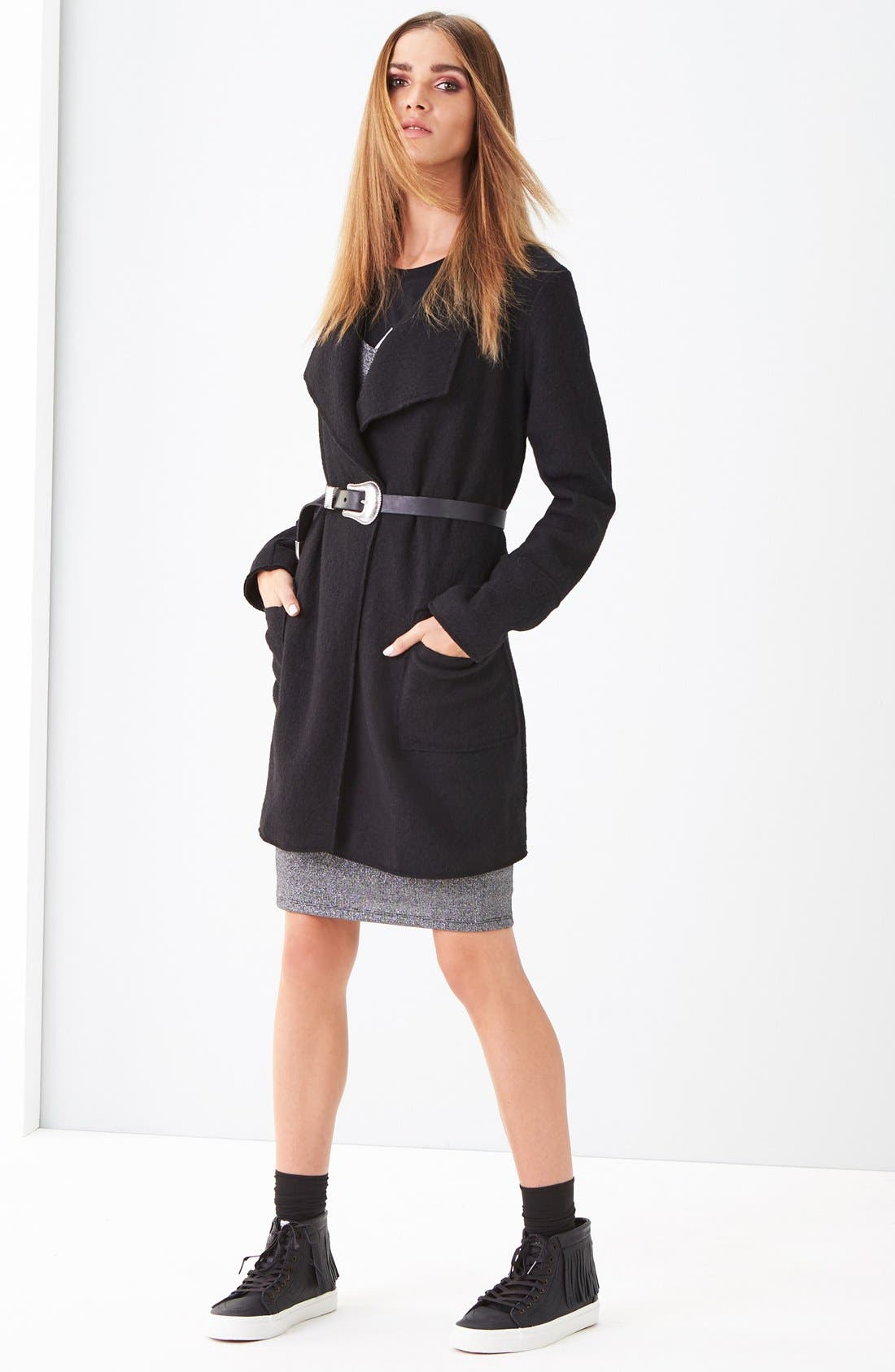 Thread & Supply Coat & Leith Dress Outfit with Accessories