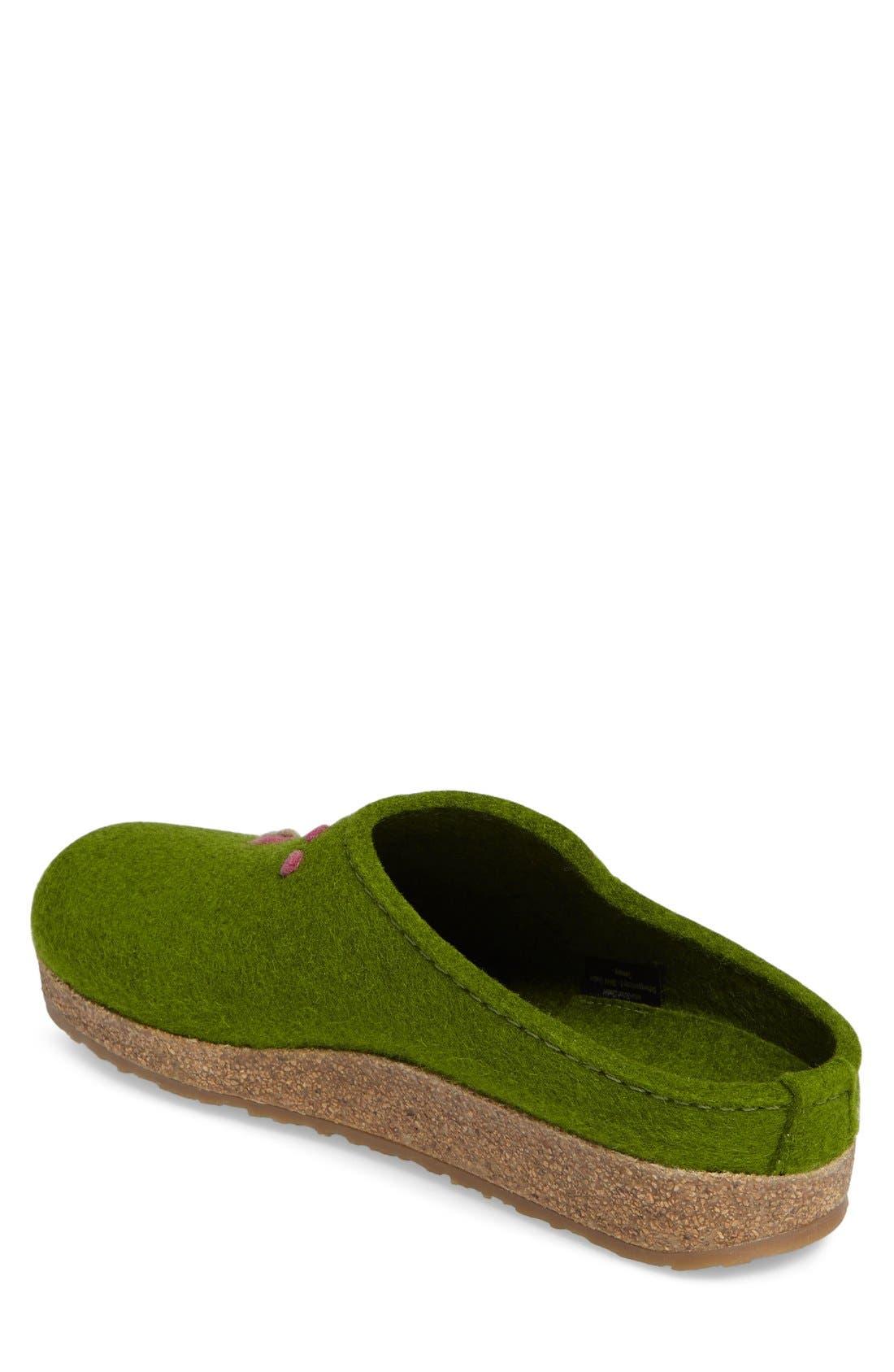 Paisley Slipper,                             Alternate thumbnail 2, color,                             Green Wool