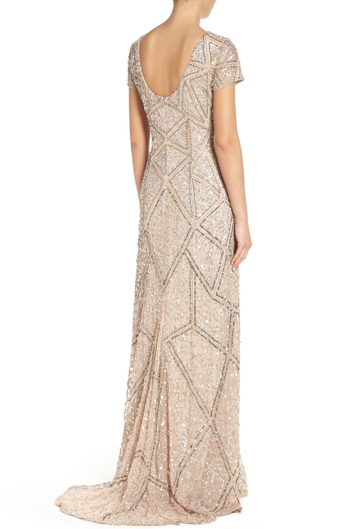 Alternate Image 2  - Adrianna Papell Embellished Mesh Gown