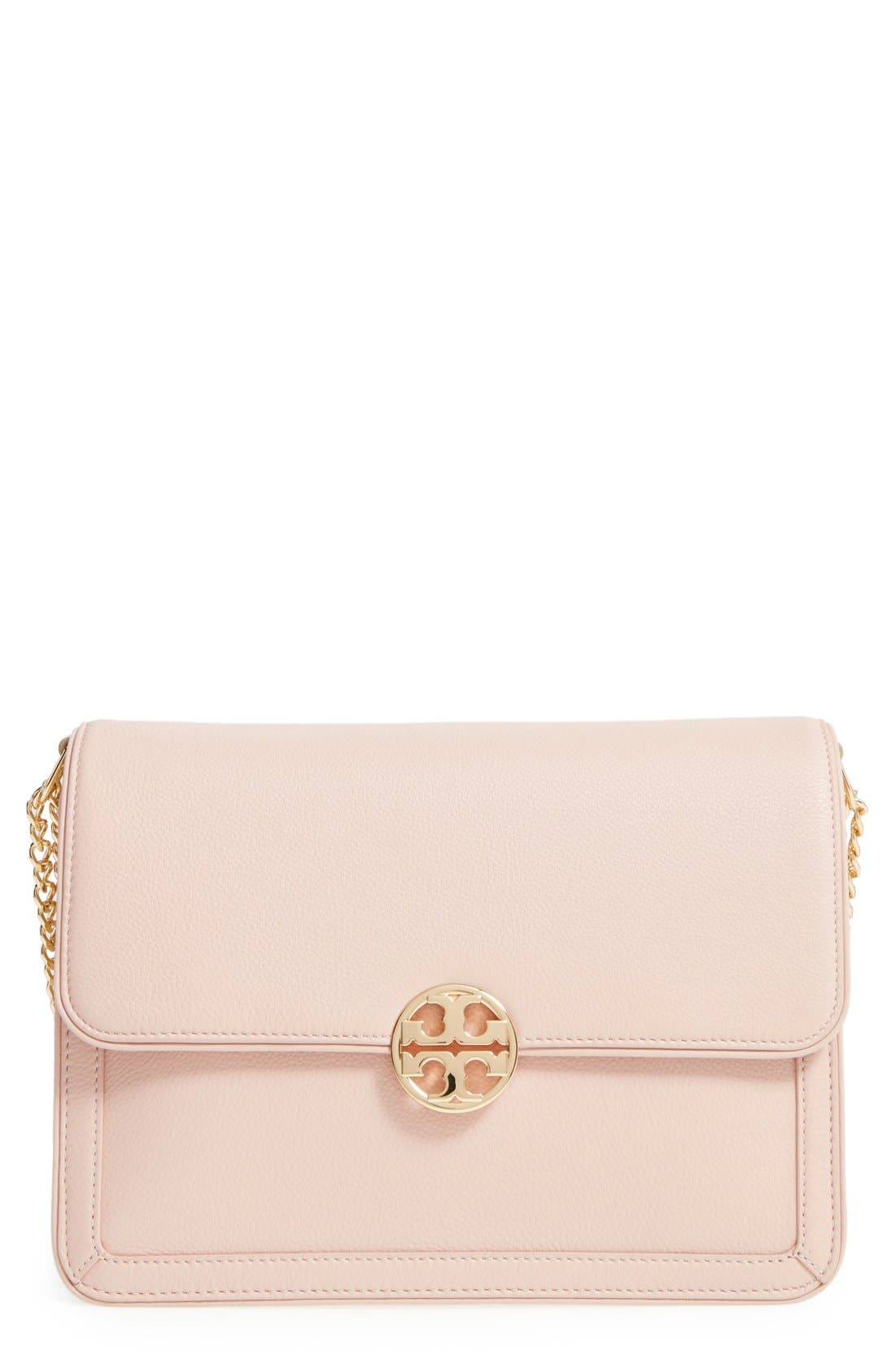 Alternate Image 1 Selected - Tory Burch Large Duet Leather Shoulder Bag