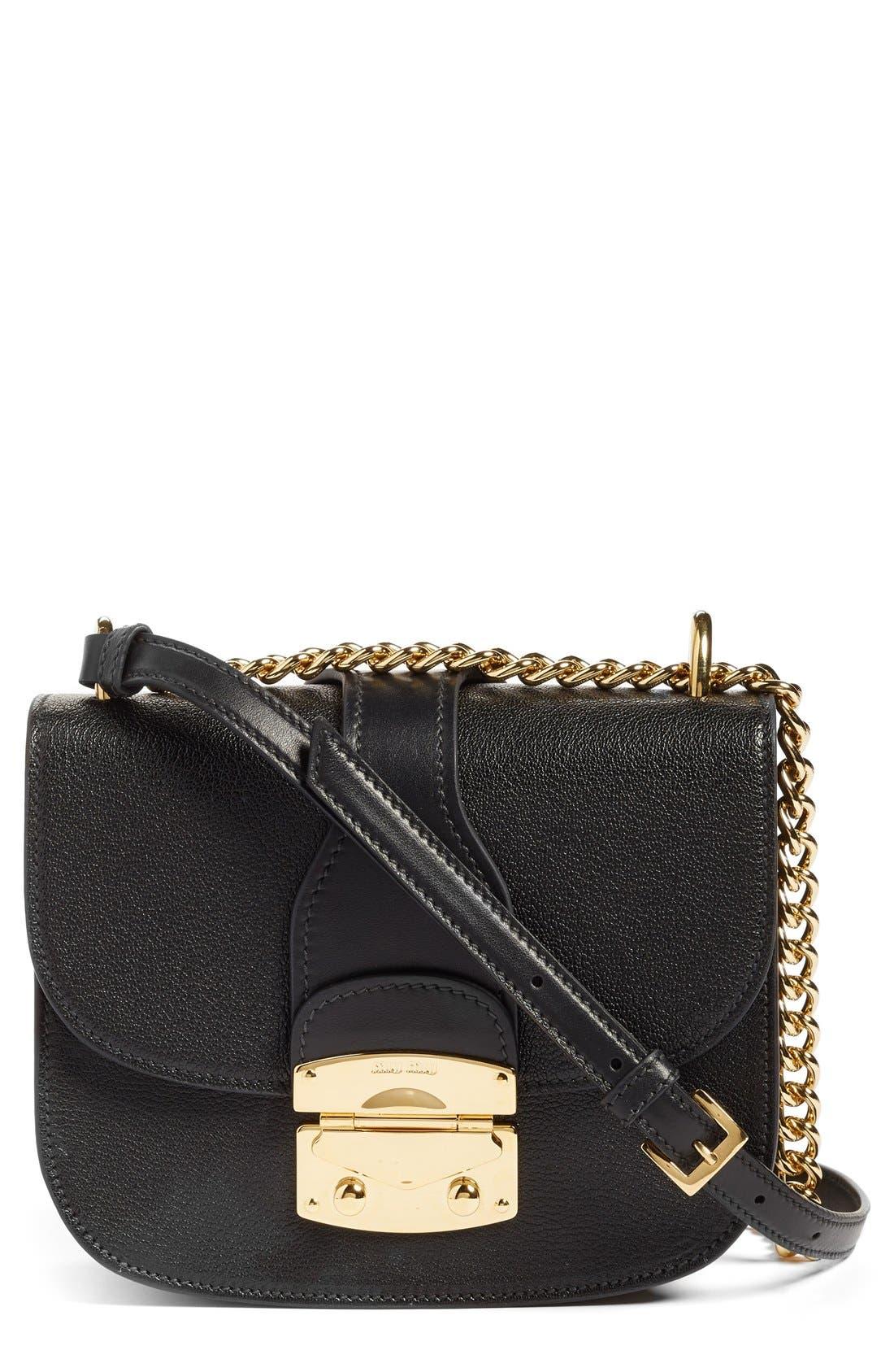 Alternate Image 1 Selected - Miu Miu Madras Leather Crossbody Bag