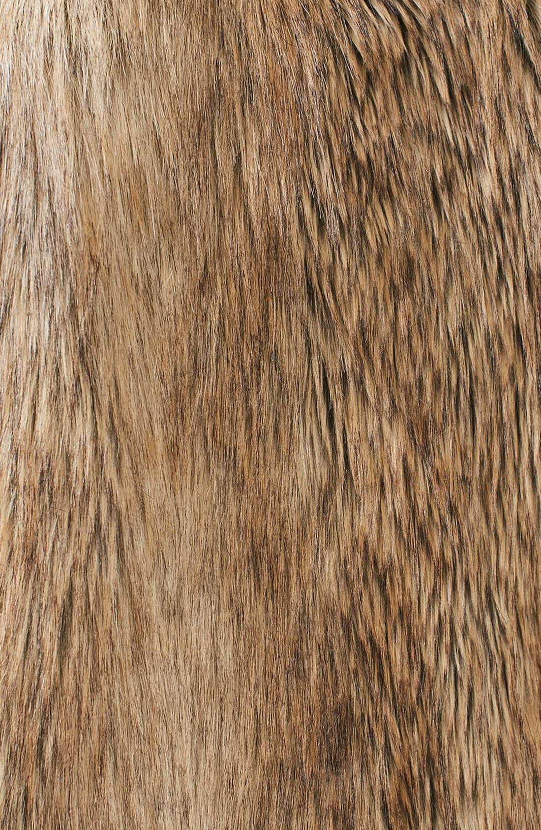 Kate Faux Fur Coat,                             Alternate thumbnail 6, color,                             Brown