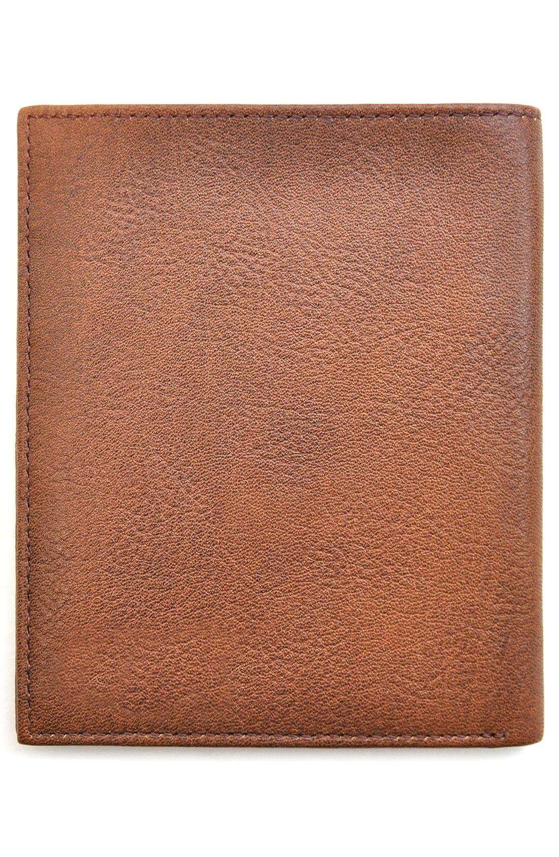 Triple Play Leather Executive Wallet,                             Alternate thumbnail 3, color,                             Cognac