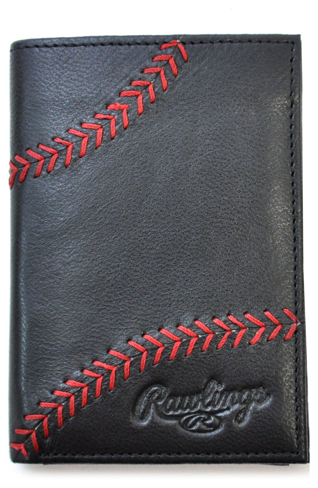 RAWLINGS Baseball Stitch Leather Money Clip Wallet