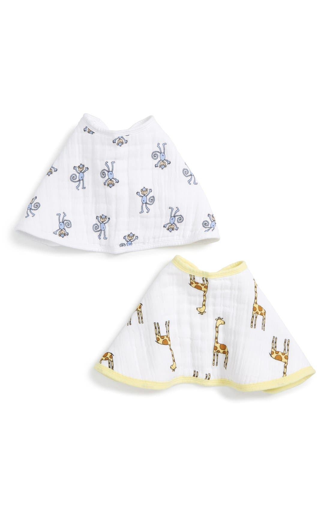 2-Pack Classic Burpy Bibs,                             Main thumbnail 1, color,                             Jungle Jam
