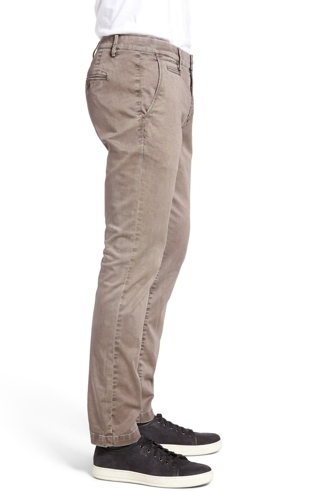 Enzyme Washed Chinos,                             Alternate thumbnail 3, color,                             Grey