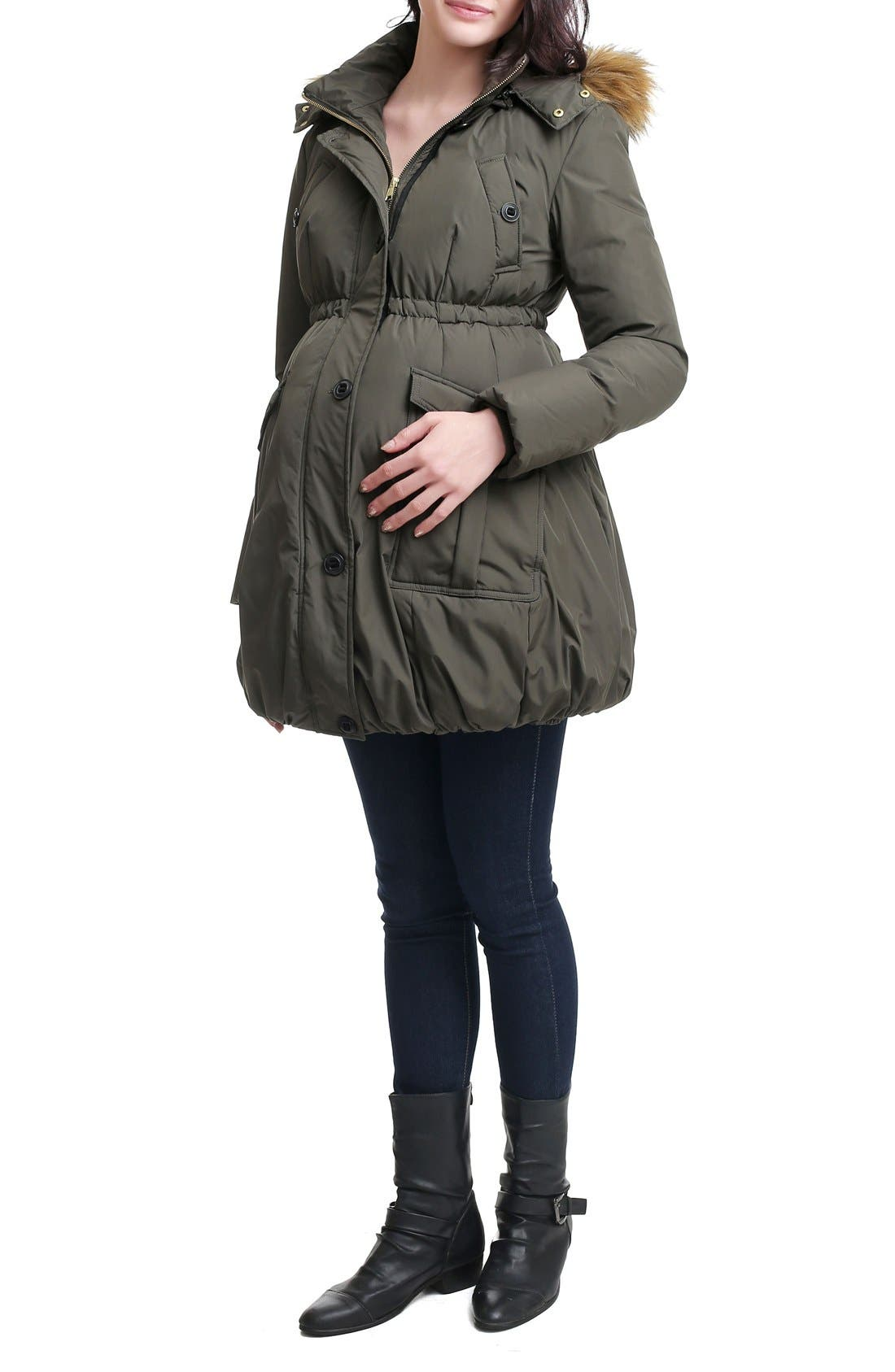Dixie Down Maternity Parka,                             Alternate thumbnail 5, color,                             Loden