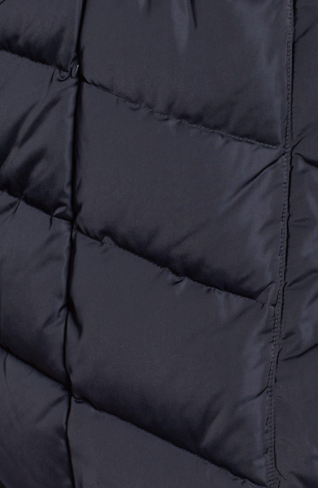Alternate Image 5  - Tahari Matilda Shawl Collar Quilted Coat (Plus Size)