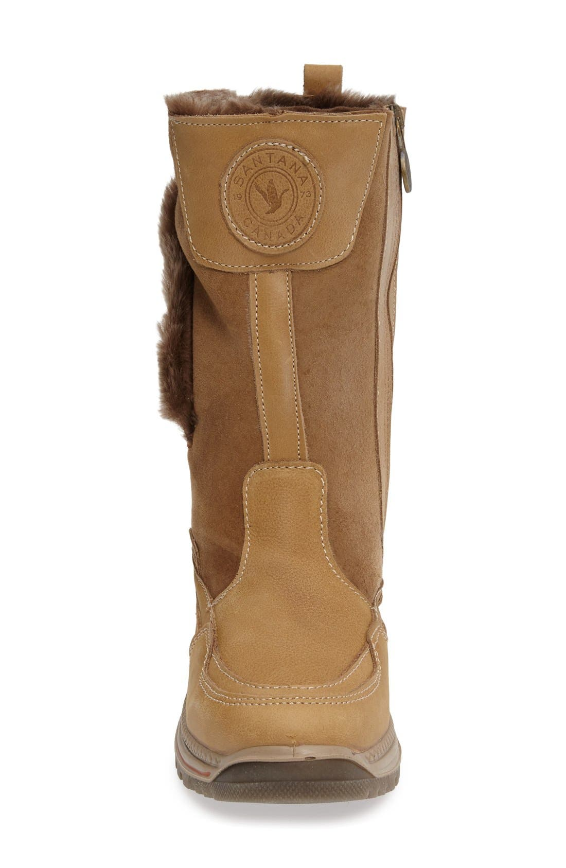 Seraphine Genuine Shearling Waterproof Winter Boot,                             Alternate thumbnail 3, color,                             Camel Leather