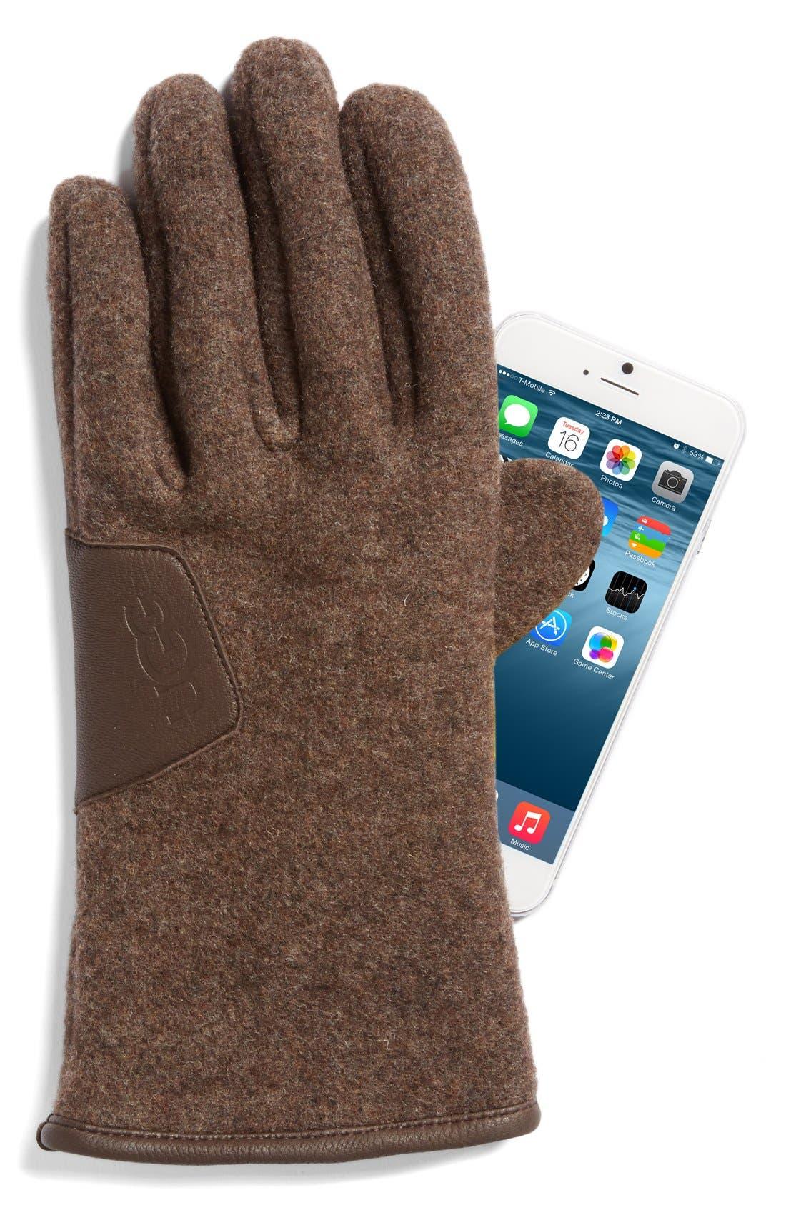 Alternate Image 2  - UGG® Wool Blend Tech Gloves
