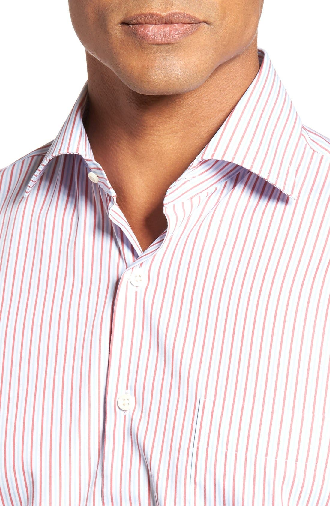 Alternate Image 4  - Peter Millar Summer Stripe Regular Fit Sport Shirt