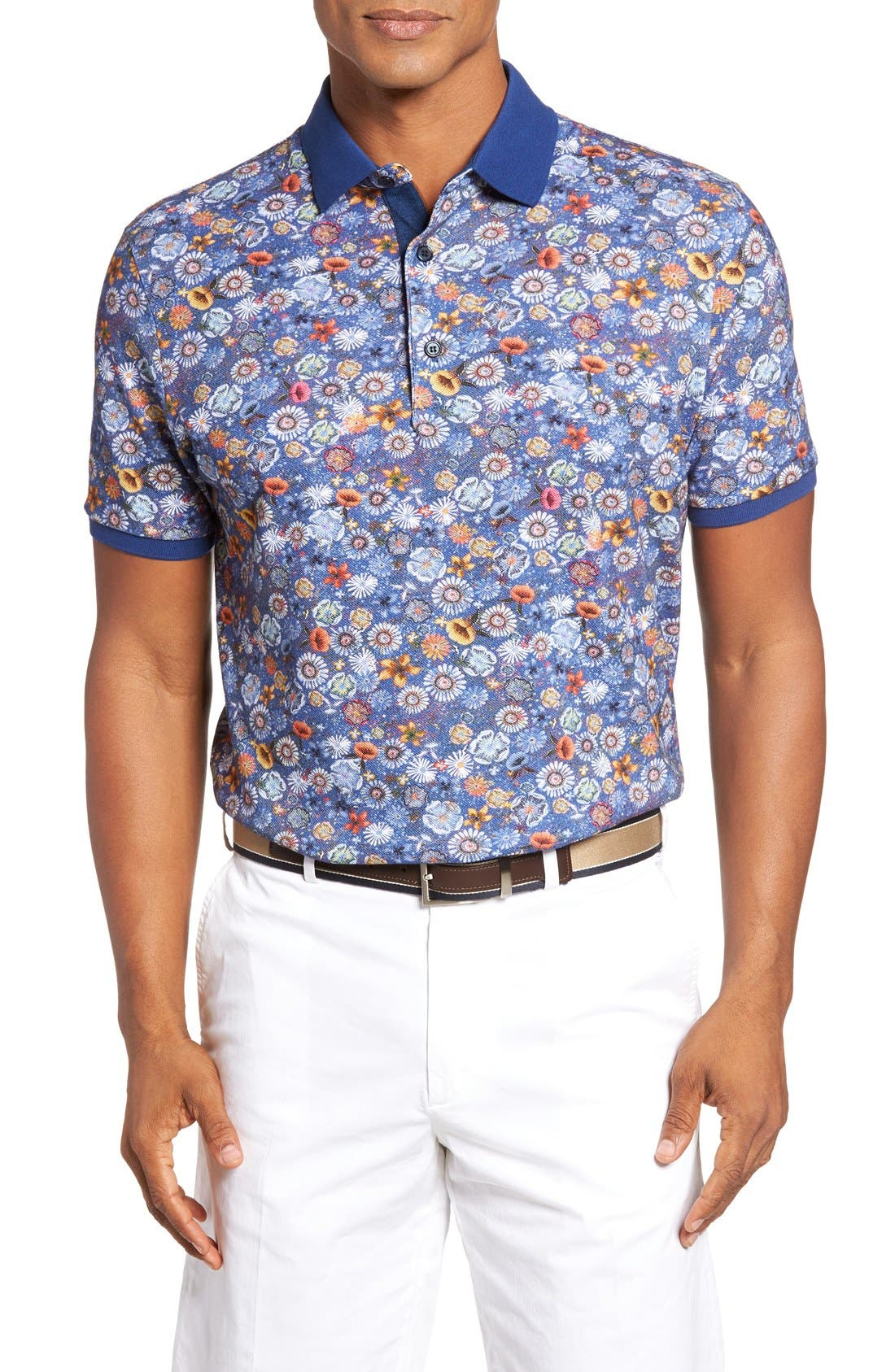 Paul & Shark Floral Print Polo