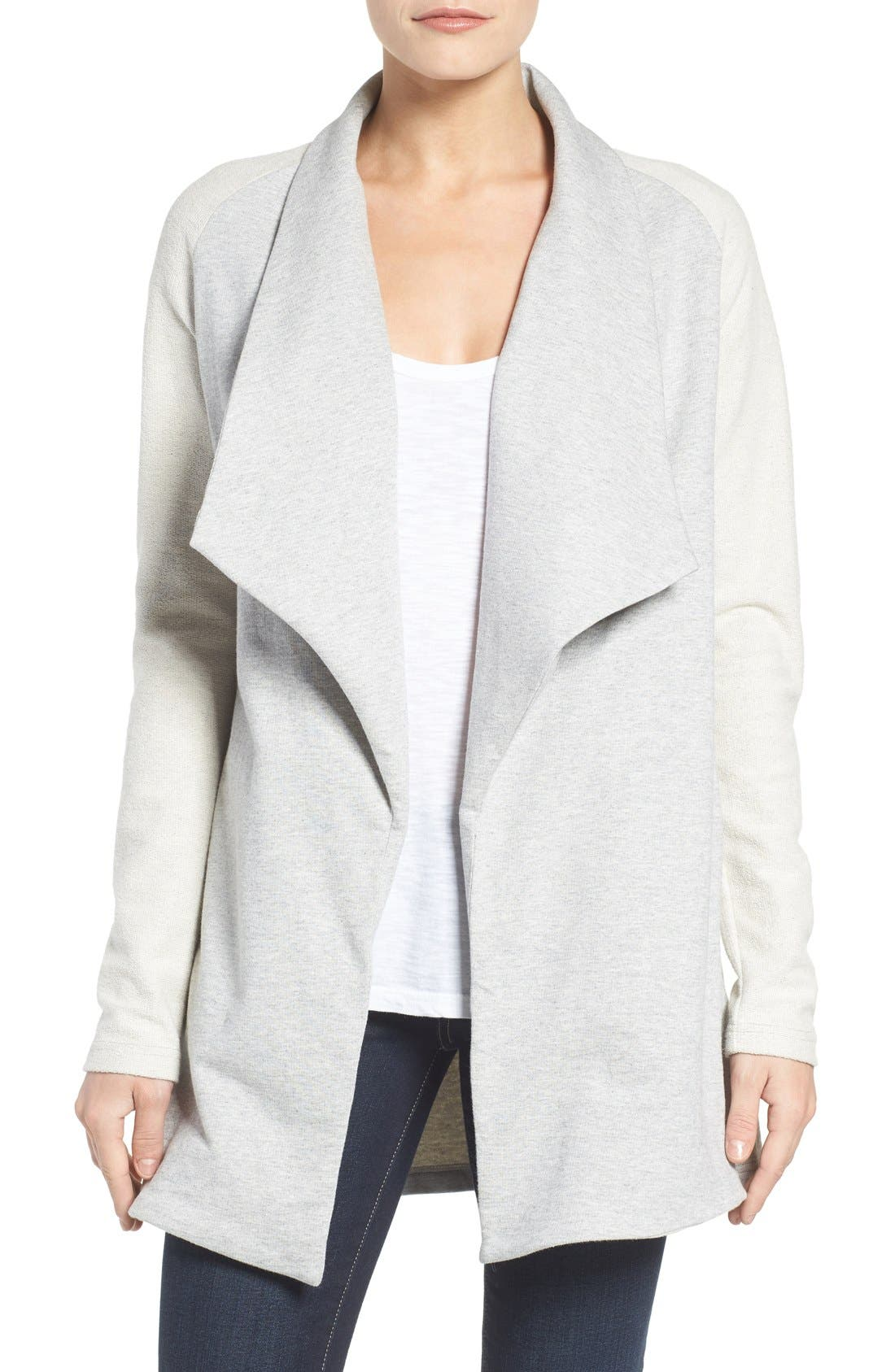 Alternate Image 1 Selected - Pleione Reverse Knit Terry Jacket
