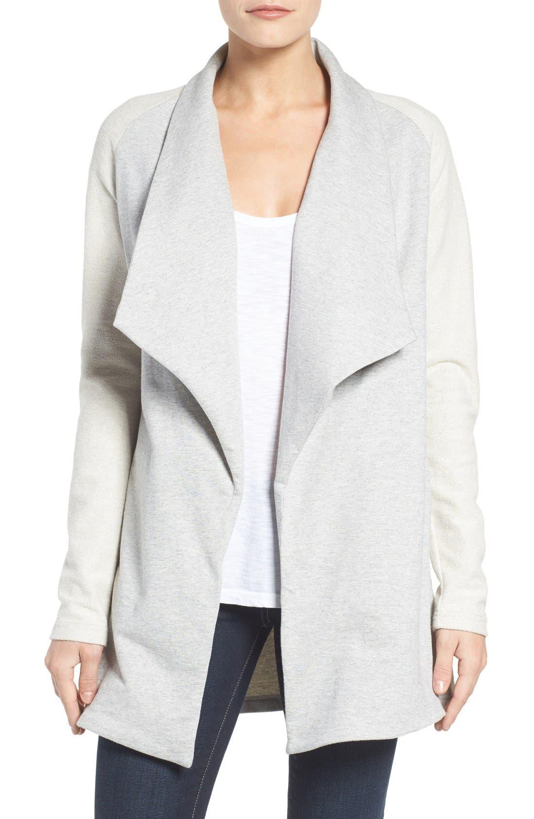 Main Image - Pleione Reverse Knit Terry Jacket