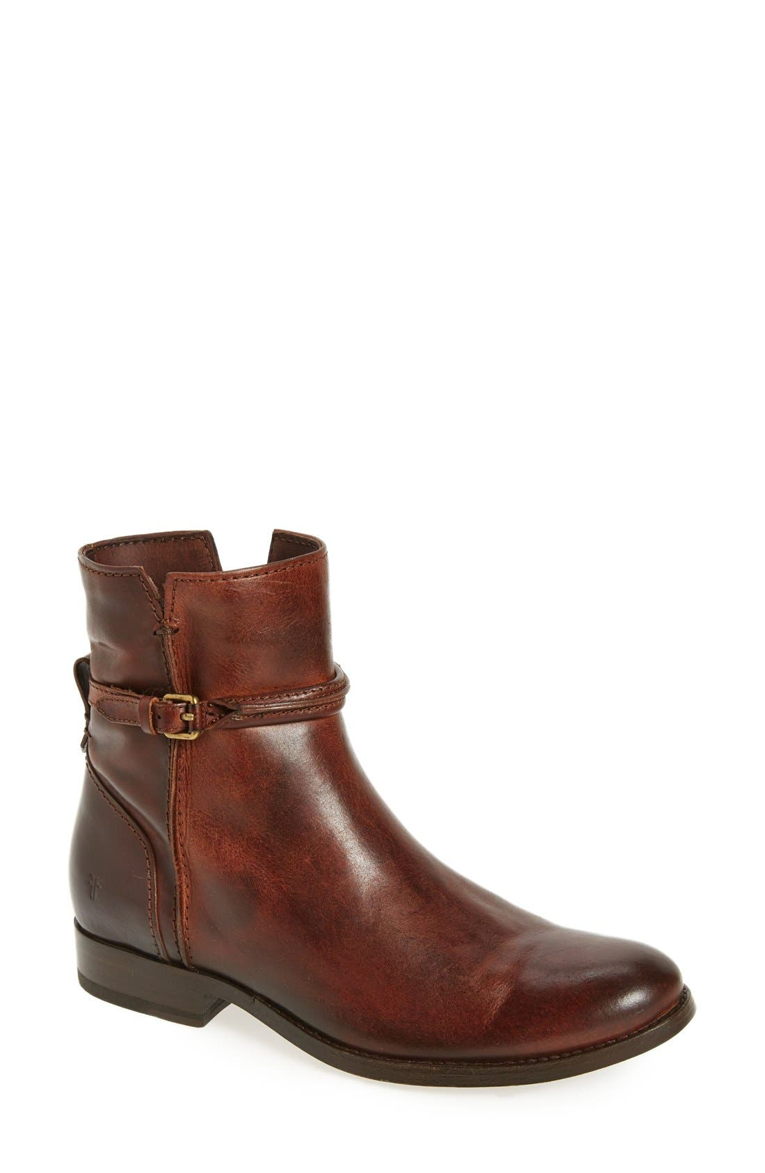 Melissa Bootie,                         Main,                         color, Brown Leather