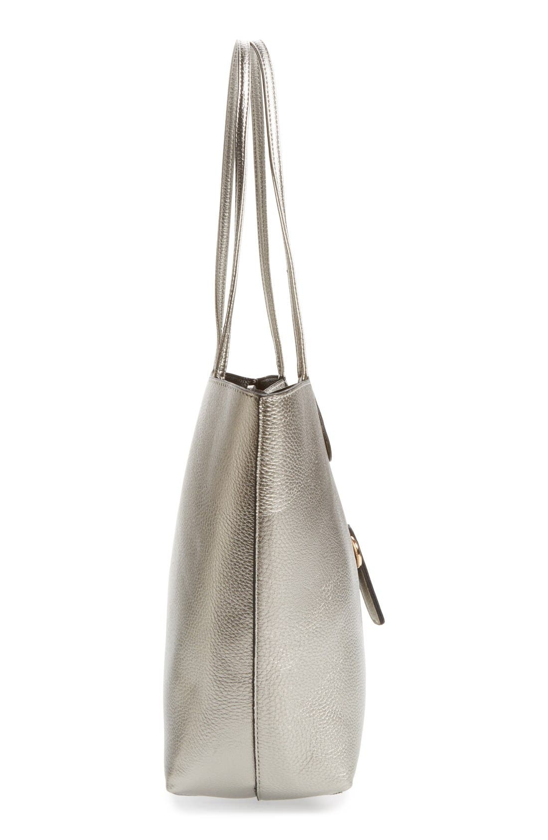 Alternate Image 4  - Street Level Reversible Faux Leather Tote