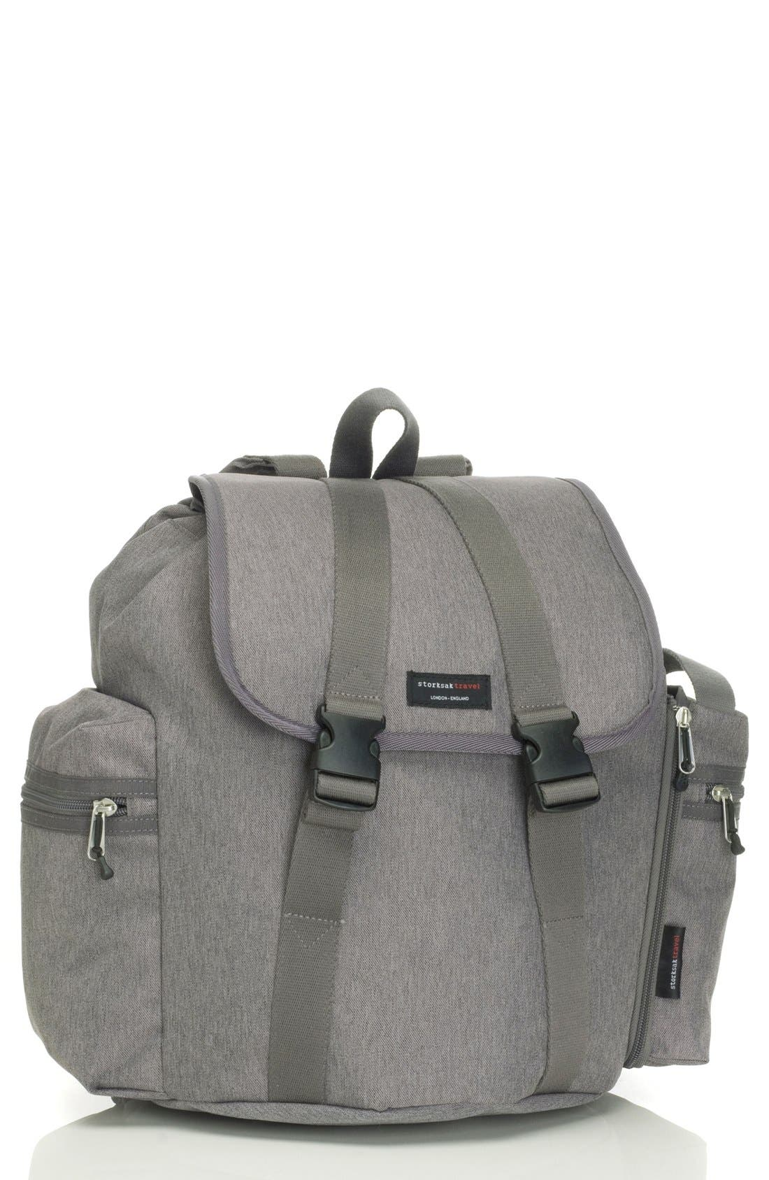 Alternate Image 1 Selected - Storksak Travel Backpack Diaper Bag