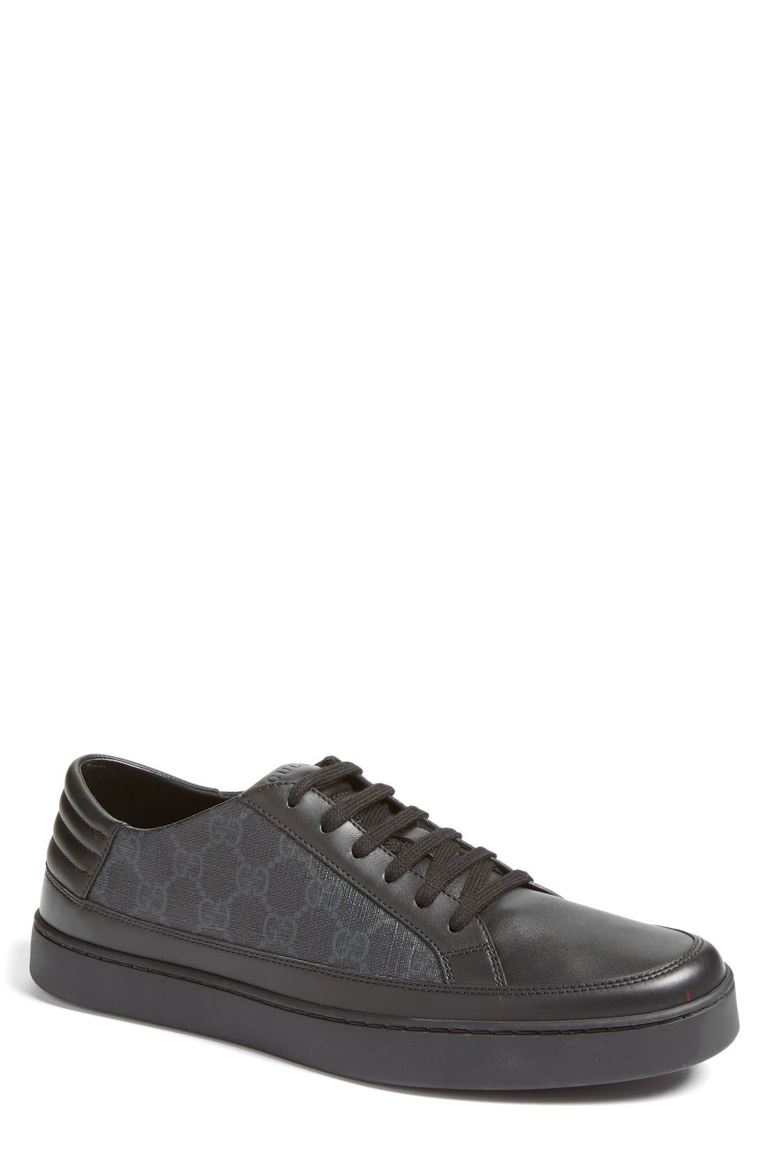 black gucci shoes for men high tops. main image - gucci \u0027common\u0027 low-top sneaker (men) black shoes for men high tops h