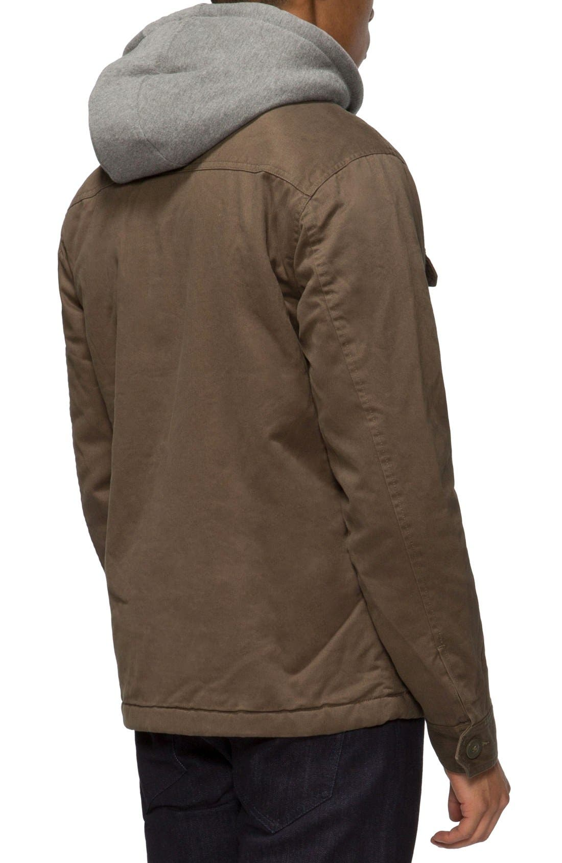 Droogs Plus Field Jacket with Detachable Hood,                             Alternate thumbnail 2, color,                             Olive/ Heather Grey