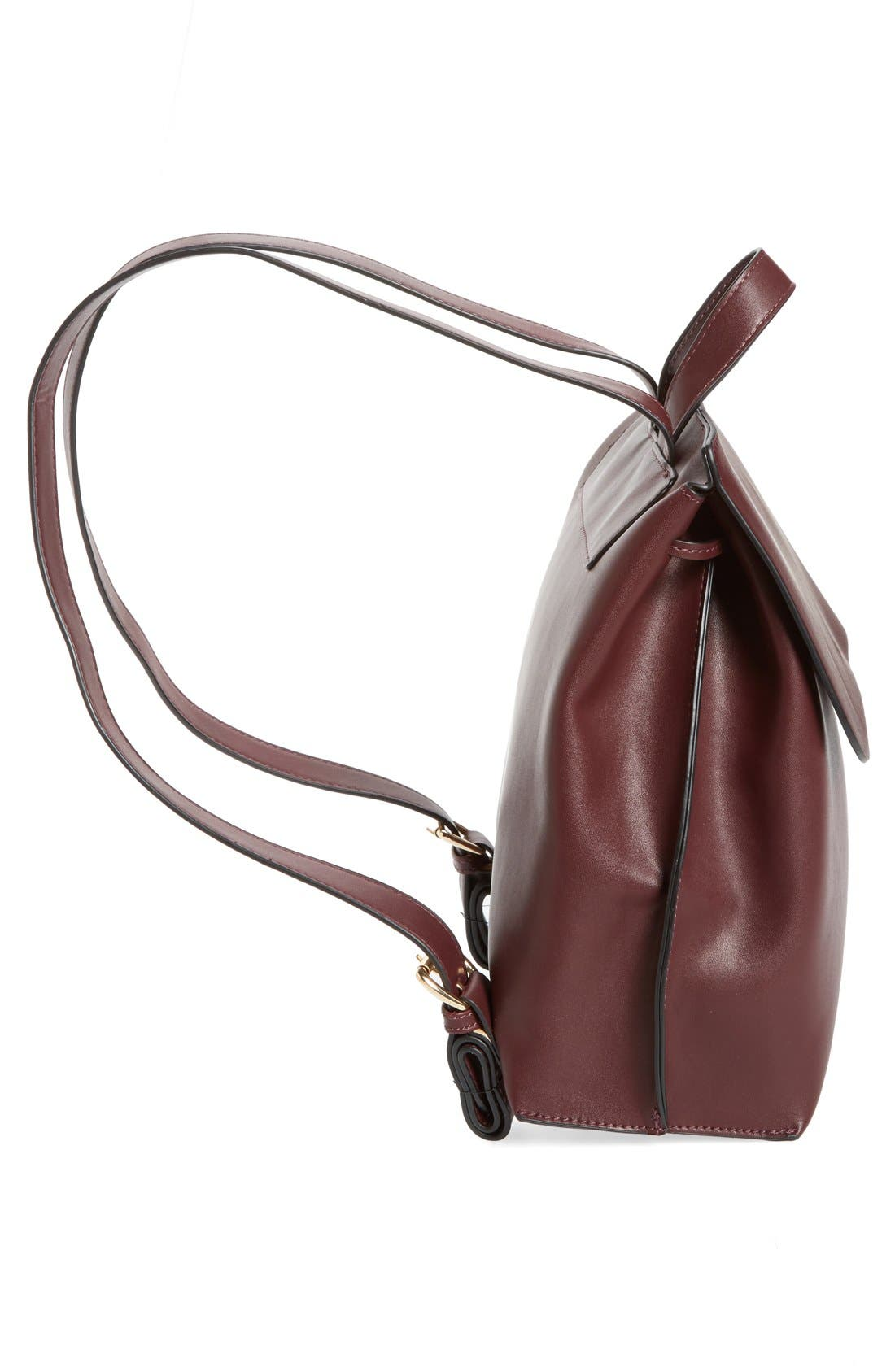 Alternate Image 5  - Sole Society Selena Faux Leather Backpack