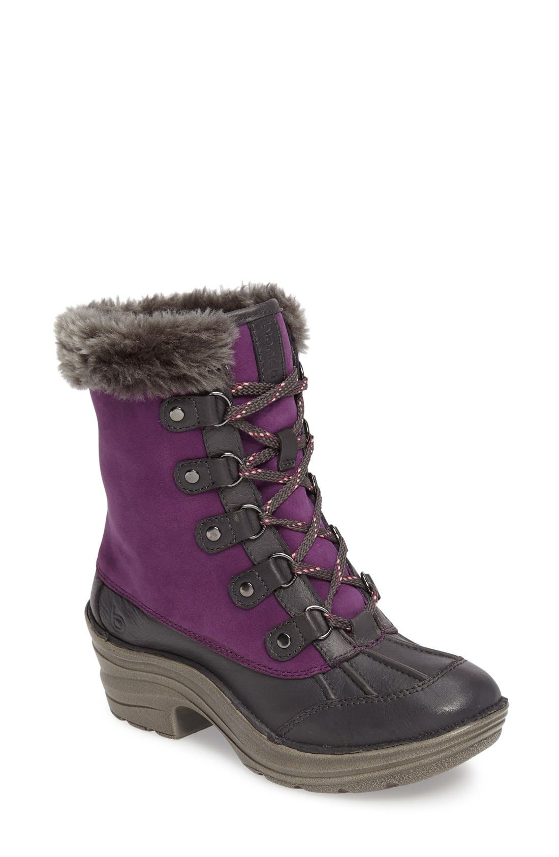 Rosemound Waterproof Boot,                             Main thumbnail 1, color,                             Purple/ Pewter Leather