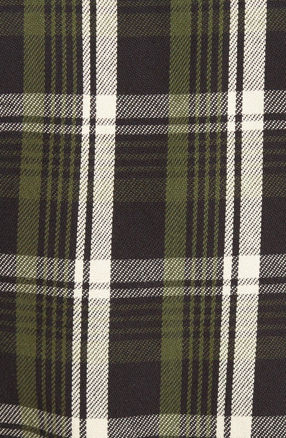 Classic Fit Plaid Flannel Shirt,                             Alternate thumbnail 5, color,                             Green