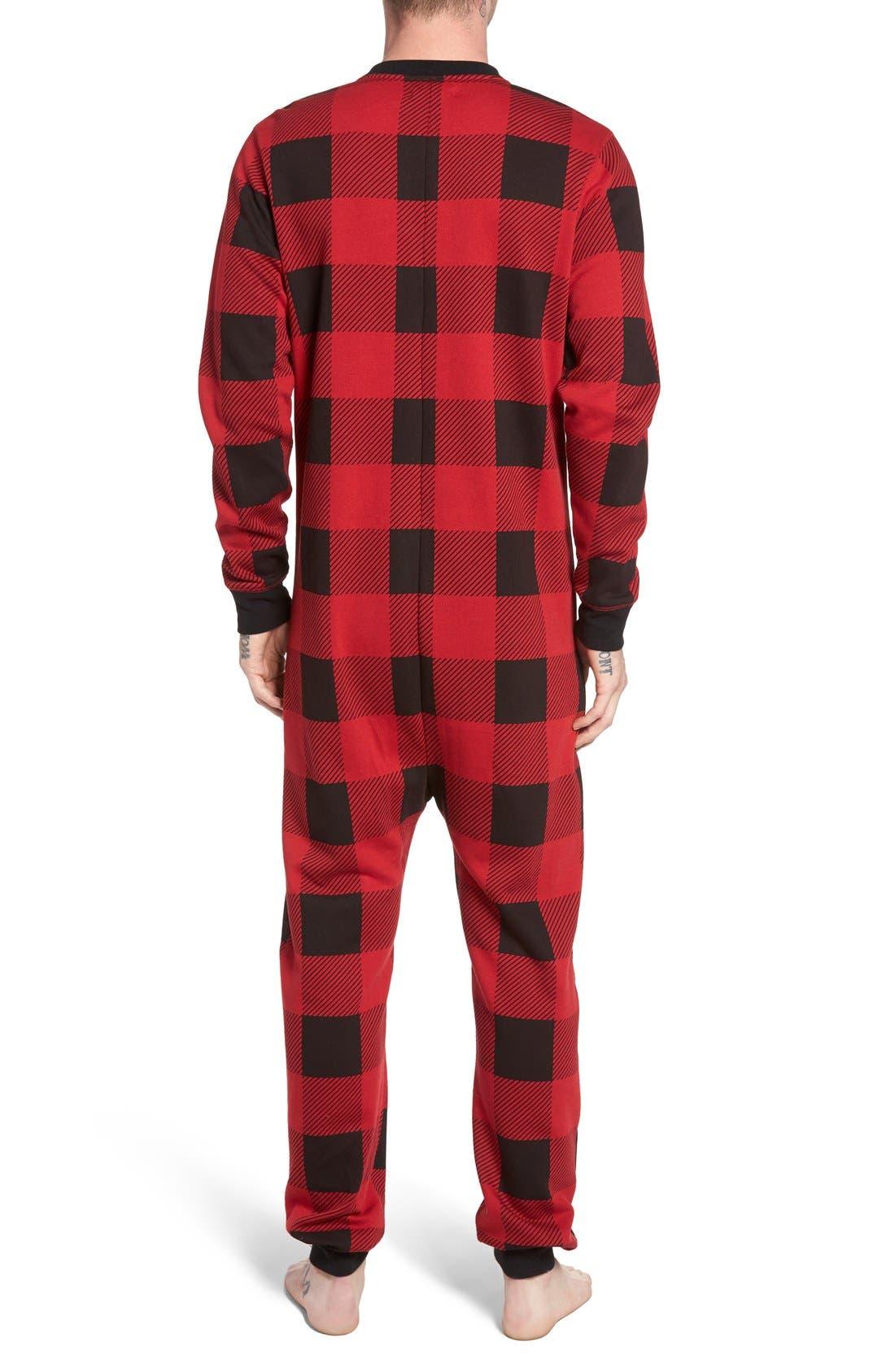 Alternate Image 2  - The Rail Fleece One-Piece Pajamas
