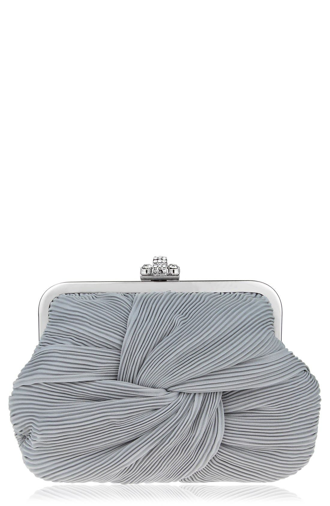 Alternate Image 1 Selected - Nina Pleated Chiffon Frame Clutch