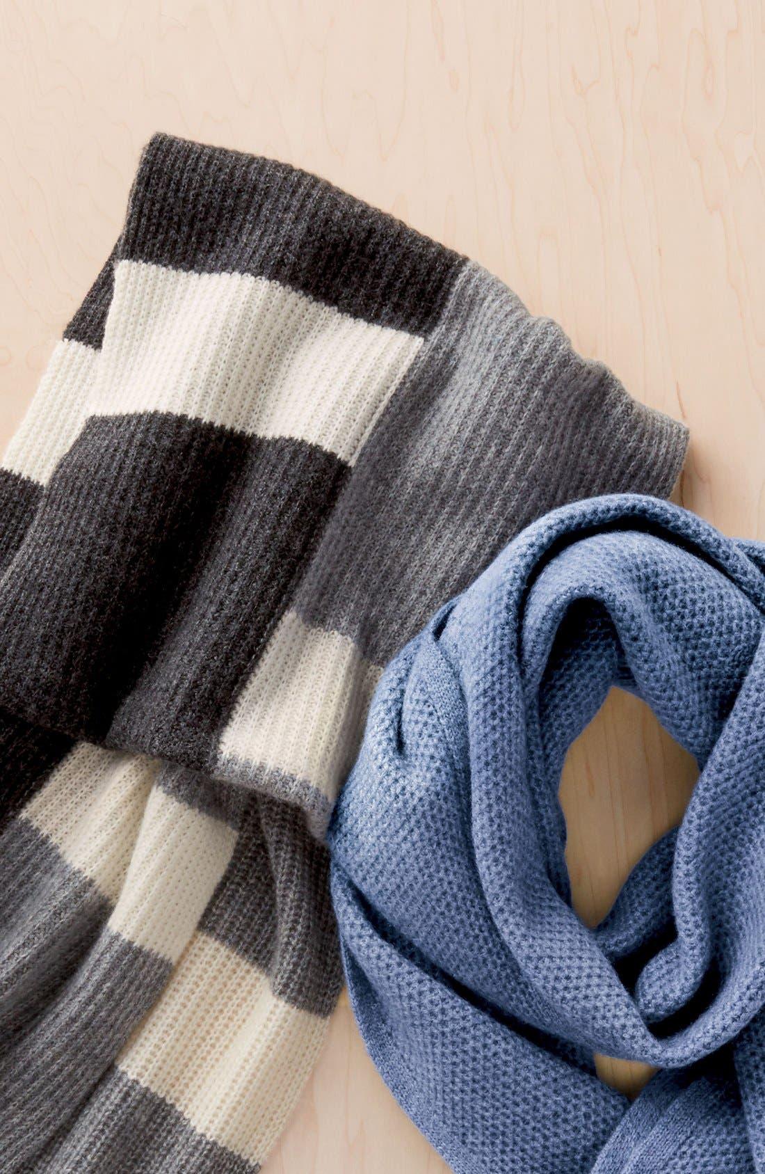 Alternate Image 4  - Halogen® Colorblock Knit Cashmere Scarf