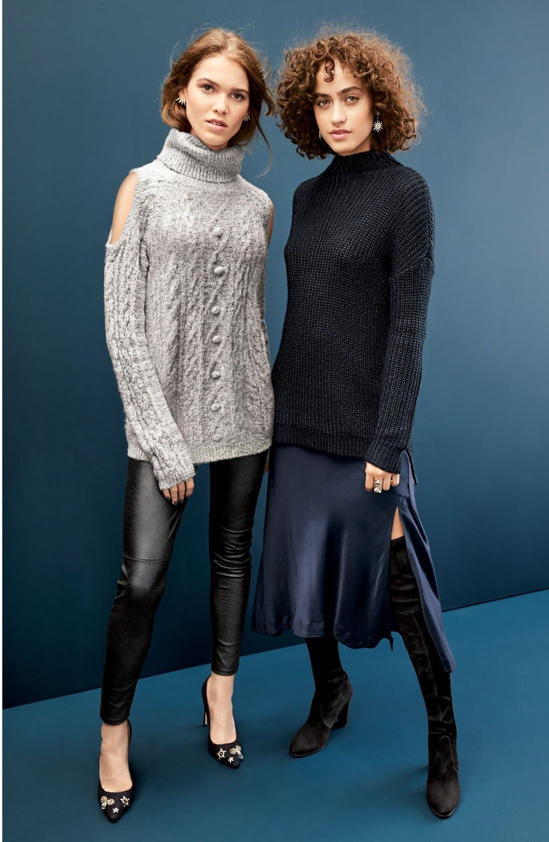 Chelsea28 Sweater & Trouvé Leggings, Trouvé Sweater & Skirt Outfits