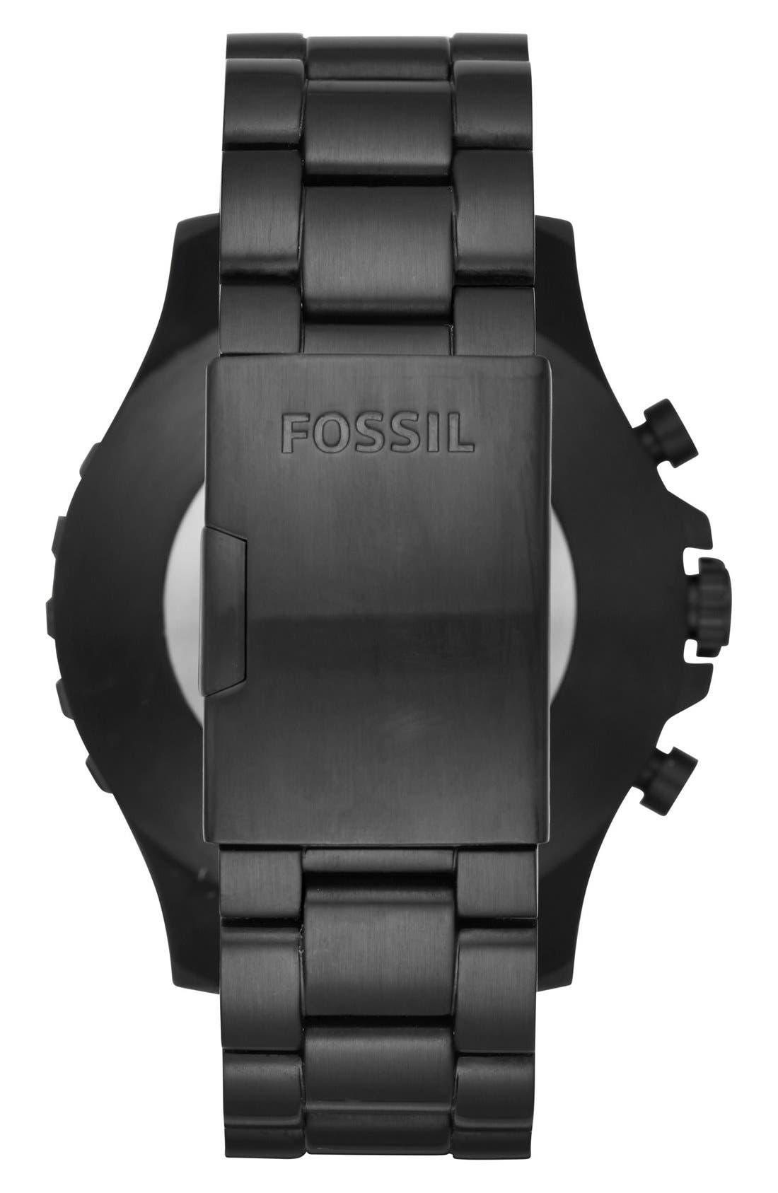 Nate Bracelet Hybrid Smart Watch, 50mm,                             Alternate thumbnail 2, color,                             Black