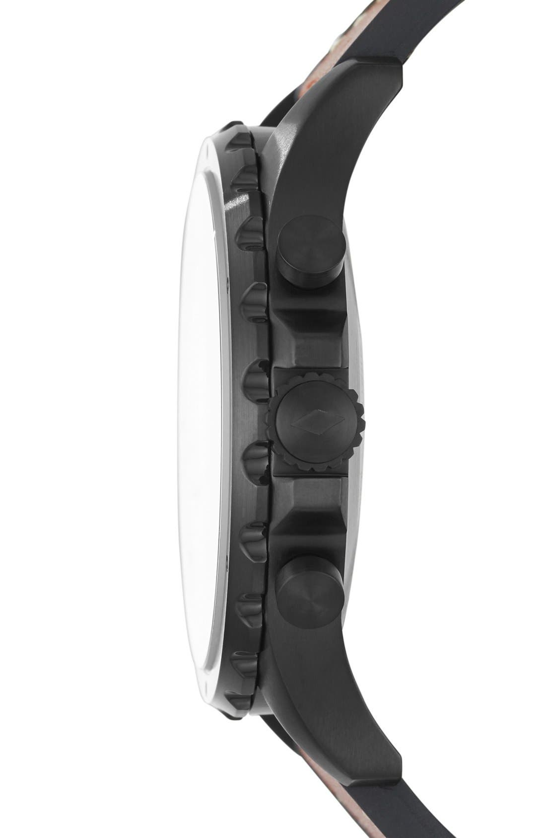 Alternate Image 3  - Fossil Q Nate Leather Strap Hybrid Smart Watch, 50mm