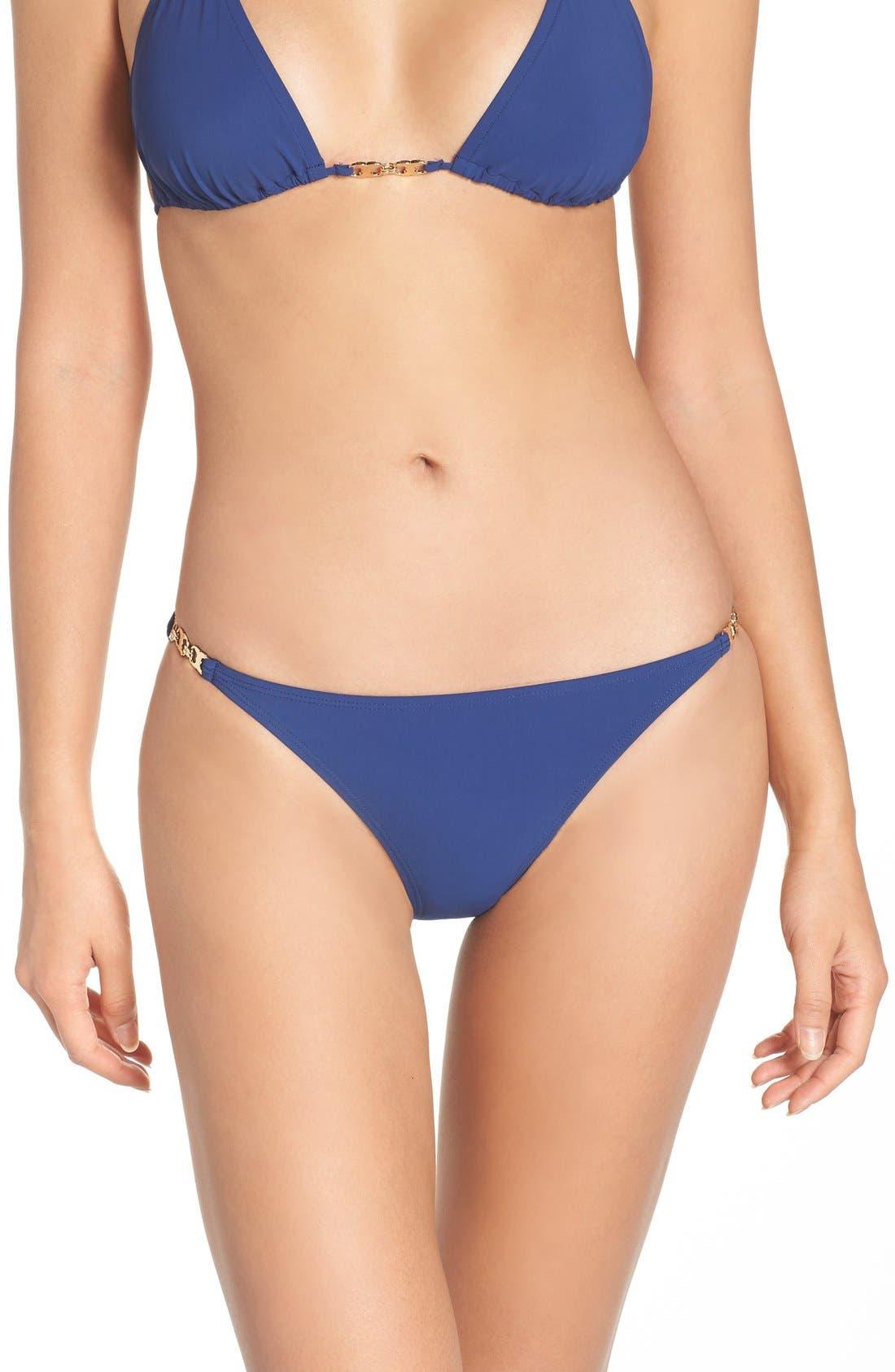 Gemini Link Bikini Bottoms,                             Main thumbnail 1, color,                             Capri Blue