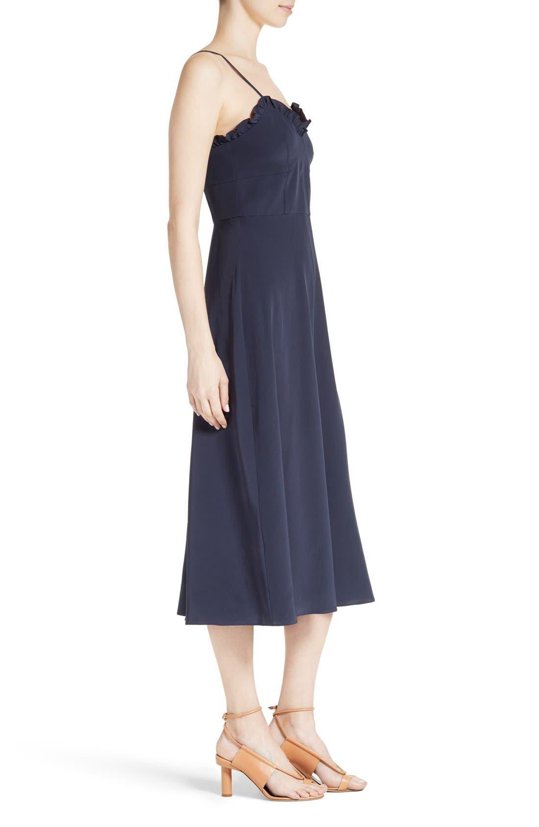 Alternate Image 3  - Tibi Ruffled Silk Midi Dress
