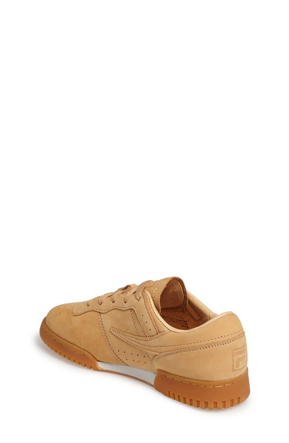 USA Heritage Sneaker,                             Alternate thumbnail 2, color,                             Tan Nubuck Leather