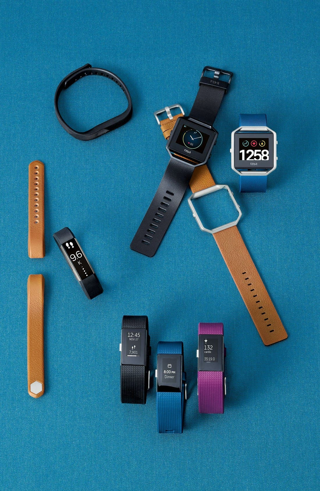 Alternate Image 9  - Fitbit Blaze Leather Smart Watch Band