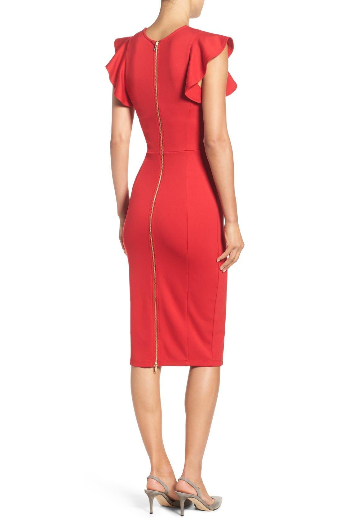 Alternate Image 2  - Felicity & Coco Capriana Ruffle Sheath Dress (Regular & Petite) (Nordstrom Exclusive)