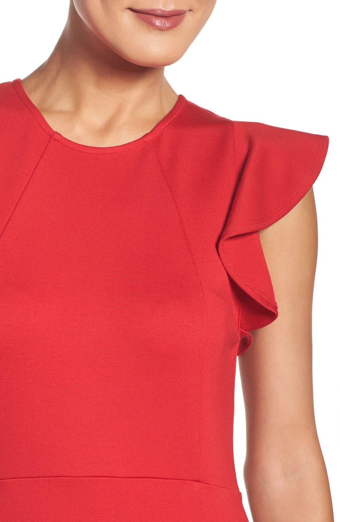 Alternate Image 4  - Felicity & Coco Capriana Ruffle Sheath Dress (Regular & Petite) (Nordstrom Exclusive)