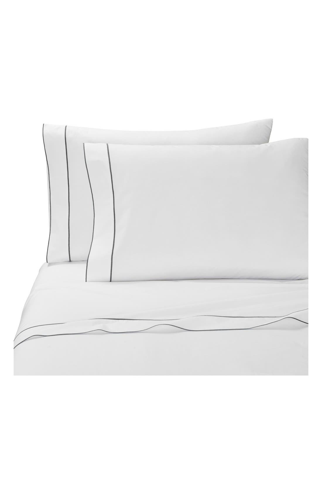 Sorrento Pillowcases,                         Main,                         color, Grey