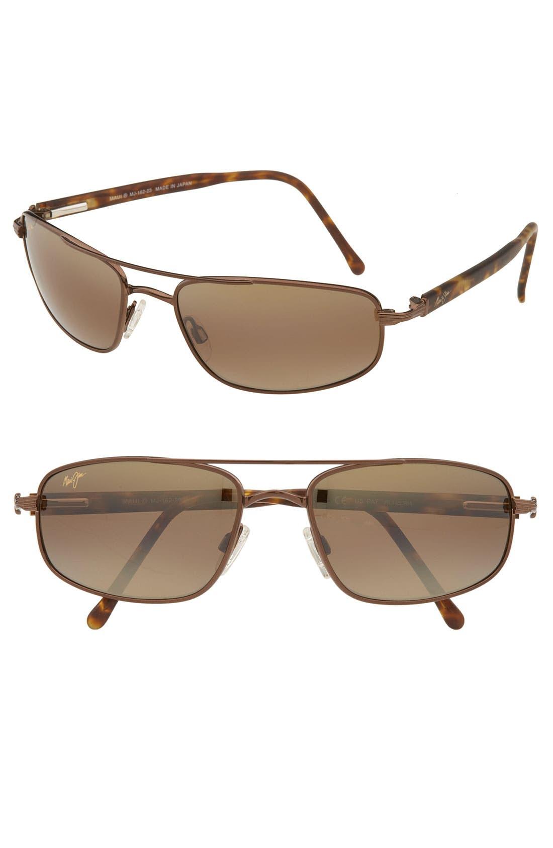 'Kahuna -PolarizedPlus<sup>®</sup>2' 59mm Sunglasses,                         Main,                         color, Copper