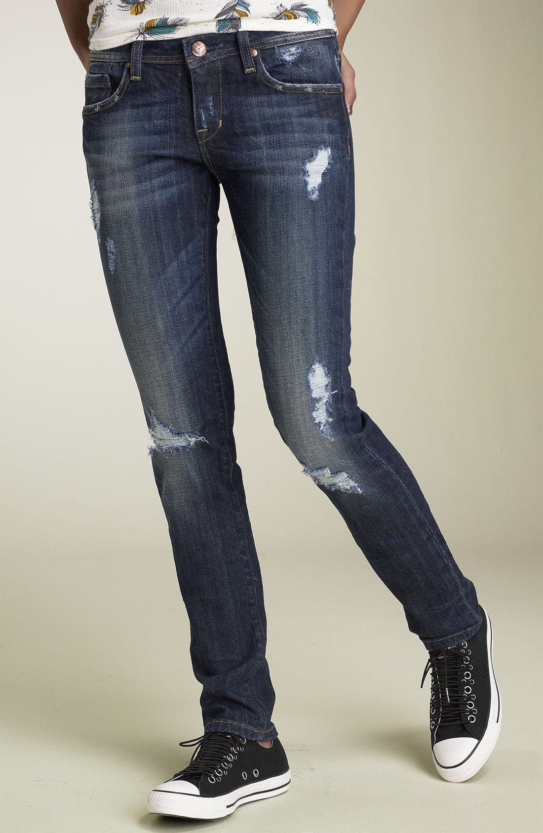Alternate Image 1 Selected - Vigoss 'Ritz' Skinny Stretch Jeans (Juniors)