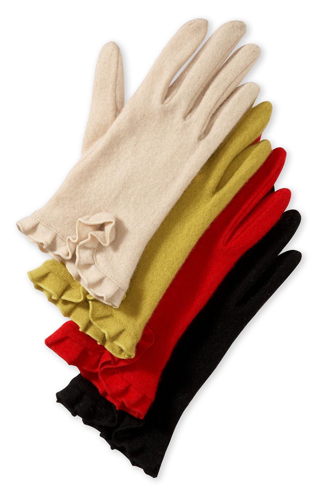 Main Image - Echo Ruffle Cuff Gloves