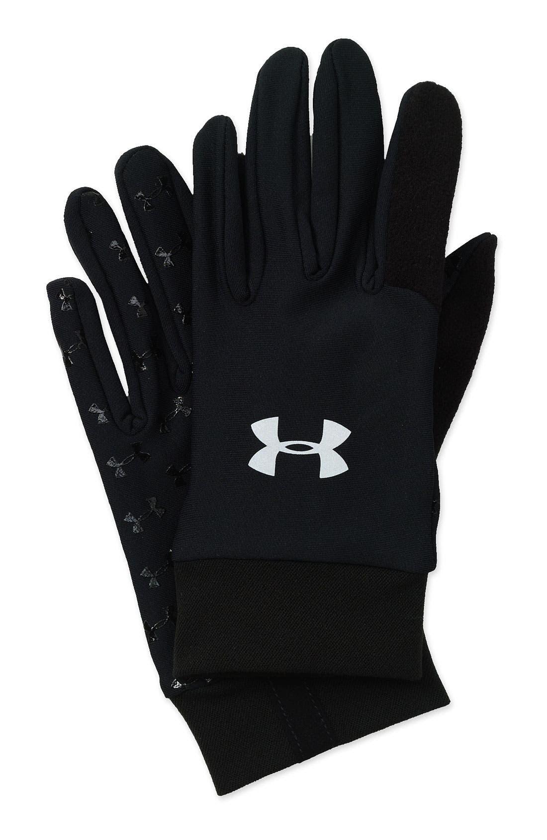 ColdGear<sup>®</sup> Liner Gloves,                         Main,                         color,  Black