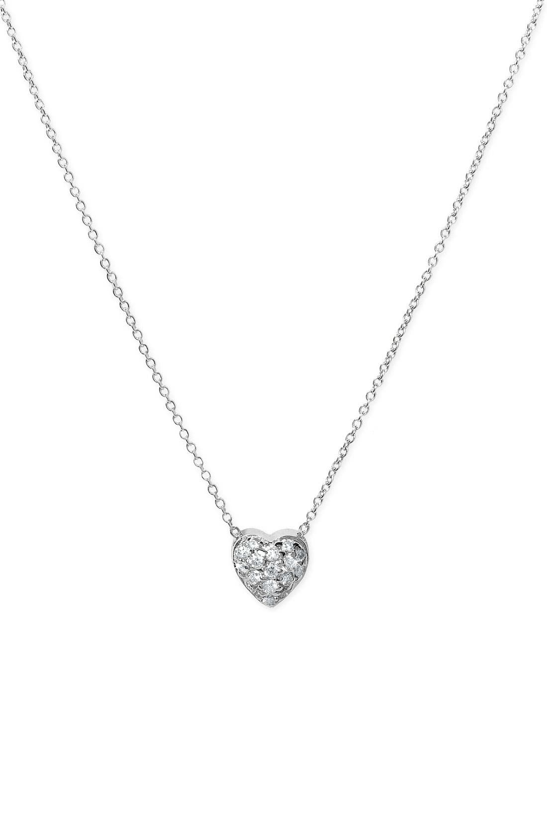 Main Image - Roberto Coin 'Tiny Treasures' Diamond Puffed Heart Pendant Necklace