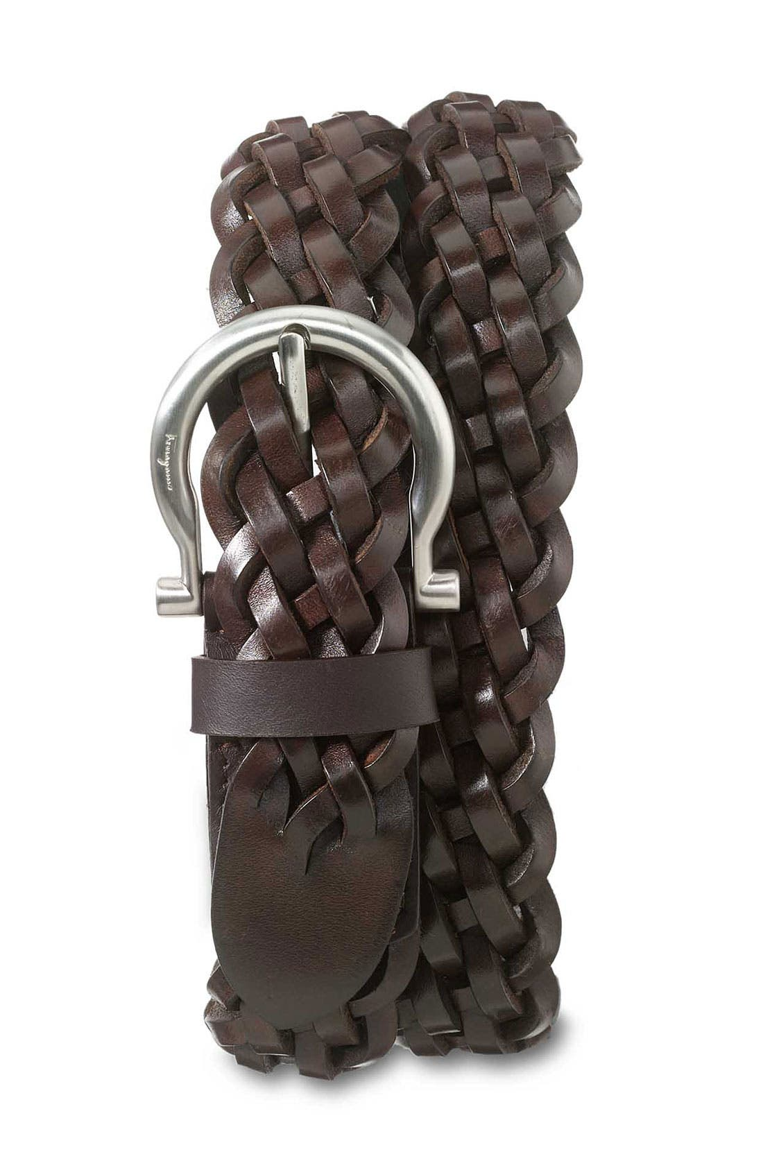 Main Image - Salvatore Ferragamo Woven Leather Belt